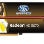 Двухчиповая старая видеокарта HD 5970 от Sapphire