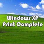 Печать на принтере Windows XP